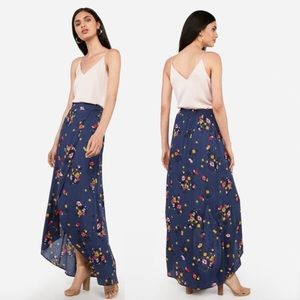NWT Floral Wrap Front Maxi Skirt